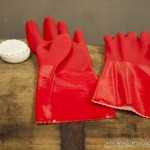 Beachwood bbq red gloves on barrel