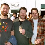 Jonas and Patrick of the Bruery next to Rick Smets of Stereo Brewing