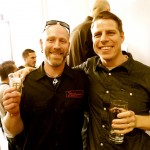 Julian Shrago of Beachwood BBQ & Brewing with Noble Ale Works brewer Evan Price