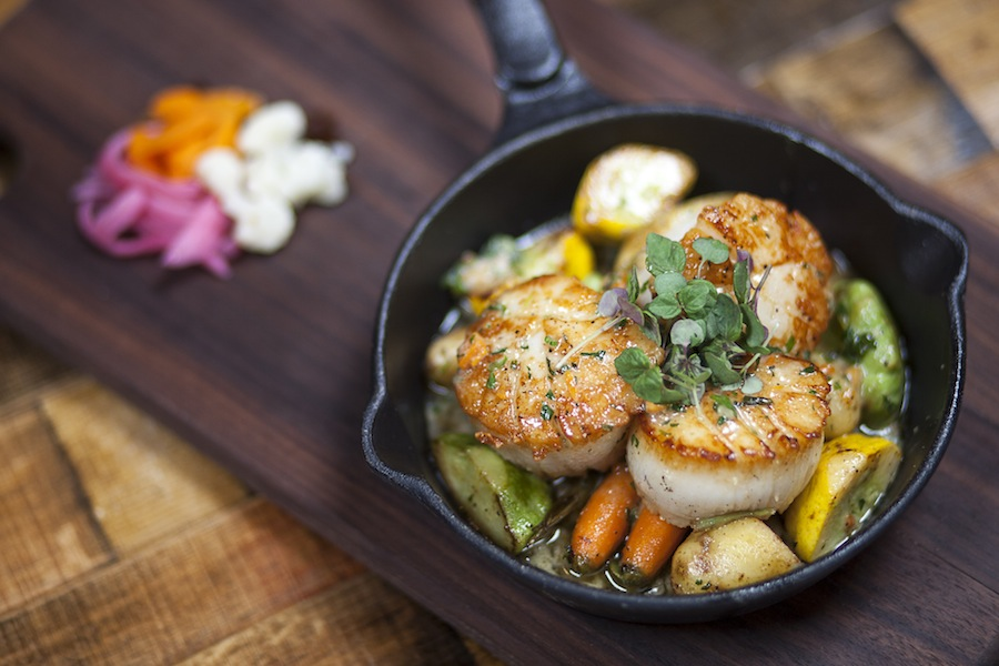 Pan Seared Scallops and Pickled Veggies - Photo - fullertonfoundry.com
